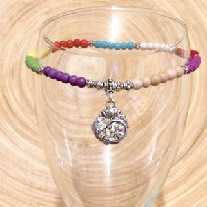 Jewelry - Lotus fish turquoise anklet